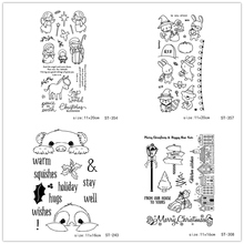 AZSG Various Cartoon Cute Animals Clear Stamps/Seals For DIY Scrapbooking/Card Making/Album Decorative Silicone Stamp Crafts