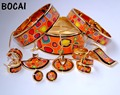 016  Cloisonne enamel jewelry European and American style 4pcs sets