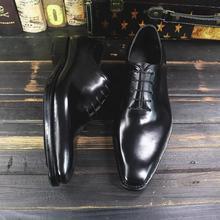 Роскошная обувь для мужчин sipriks; мужские итальянские модельные туфли ручной работы с вышивкой; импортные однотонные оксфорды из телячьей кожи с вырезами; обувь на квадратном каблуке; 45
