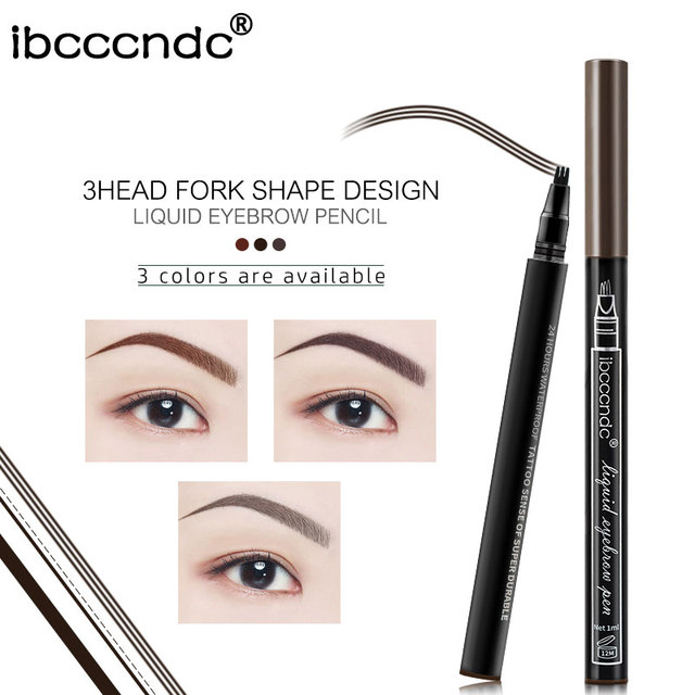 Microblading Eyebrow Tattoo Pen Fine Sketch 3 Head Liquid Eyebrow Pen Waterproof Tattoo Eye Brow Pencil 4
