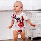 2018 New Baby Girl Floral Newborn Onesie Baby Girl Onesie Short Sleeve Backless Infant Toddler Bodysuit Baby Girl Summer Clothes