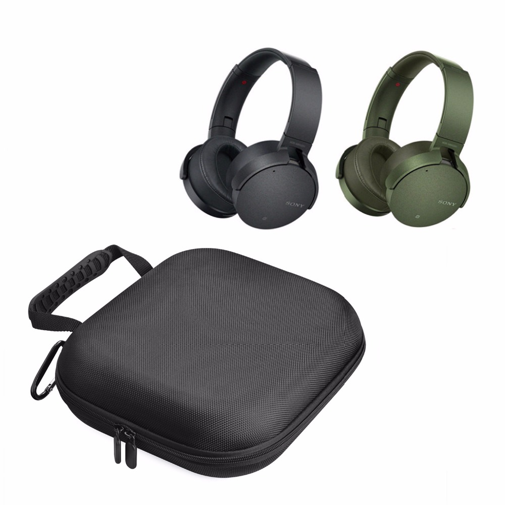 2018 Newest Carrying Nylon Hard Cover Box & Bag Pouch Groups Case for Sony MDR-XB950N1 Over Ear On Ear Headphone Headsets Bags