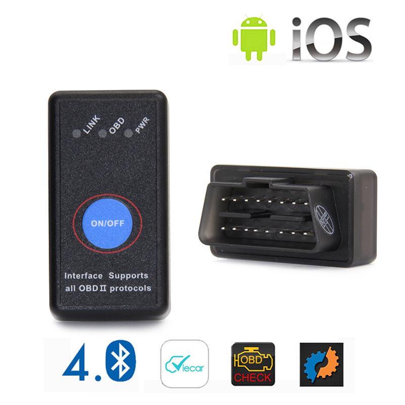 ELM327 Bluetooth 4.0 V2.1 Interface Work On Android Torque Elm 327 Bluetooth OBD2 OBD II Car Diagnostic Scanner ...