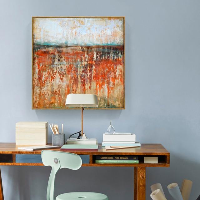 abstrakte landschaft lgemlde beste pop rot farbe wahrnehmung wand kunst lgemlde heim wohnzimmer decor moderne - Beste Wohnzimmer Wandkunst