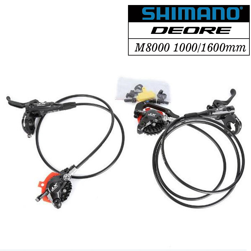 Shimano Deore XT M8000 Hydraulic Brake set Lce Tech Front and Rear for Mtb Bike Parts 800/1400mm