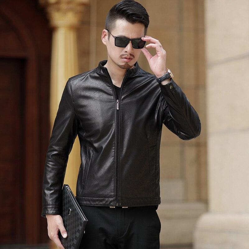 Vêtements De Cuir Automne Veste Nouvelle Hommes 1862 Pardessus Véritable Mode Manteau Noir En qwtzcIpW