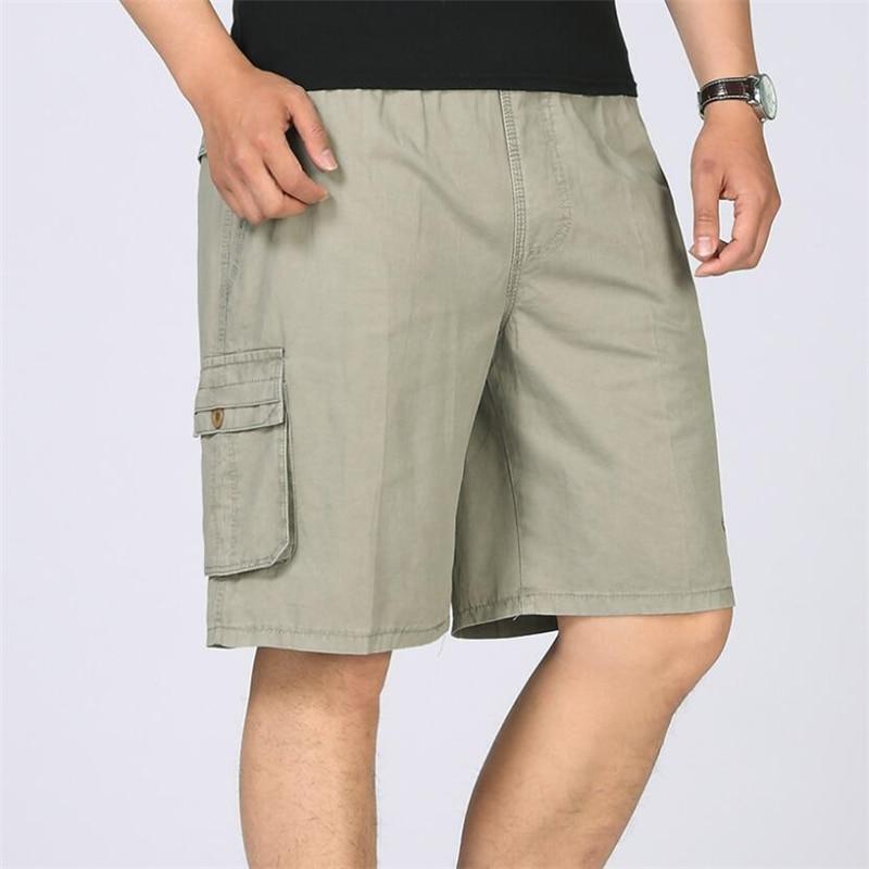 Plus Size Cargo Shorts Men Army Military Combat Baggy Multi-Pocket Tactical Short Casual Loose Cotton Knee Length Shorts Men 6XL