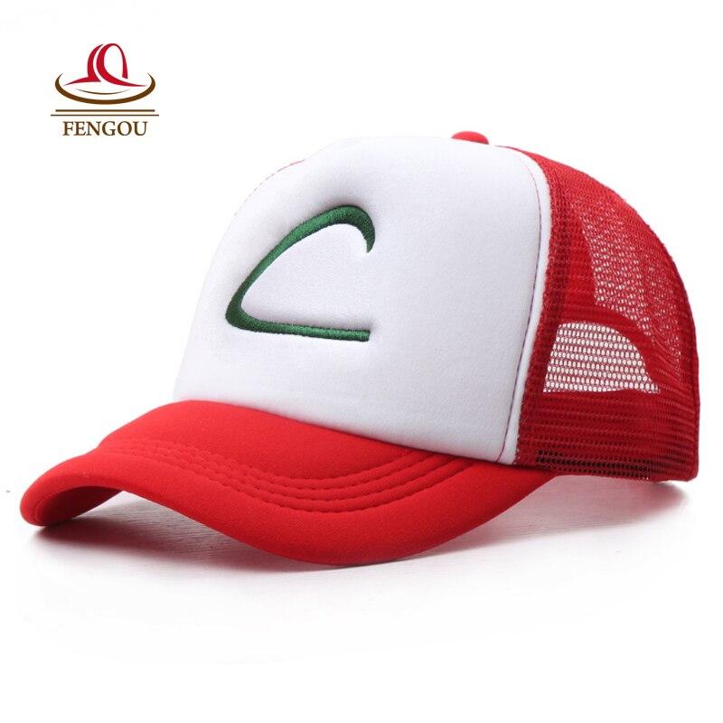 Anime Cosplay Hat For Pokemon Ash Hat Visor Cap Costume Play Baseball Hat For Man Women For Pokemon Gorra