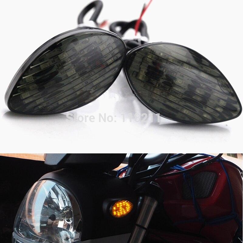 Clear Smoke Motorcycle LED Turn Signal For Honda CBR 600 R F4i 1000RR 900 RR 929 / 954  RVT1000R