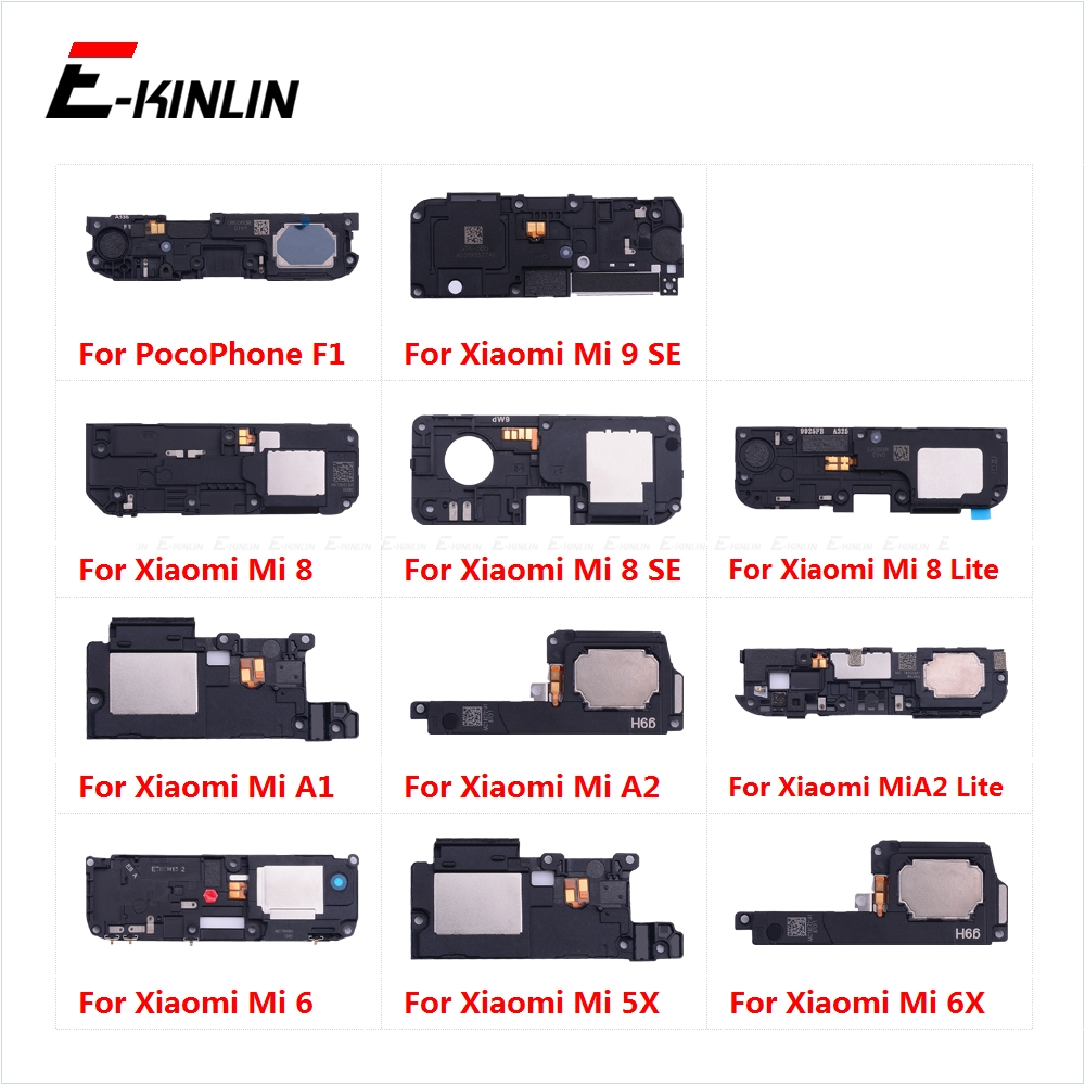 Loudspeaker For XiaoMi PocoPhone F1 Mi A2 A1 9 8 SE Lite 6 6X 5X Loud Speaker Buzzer Ringer Flex Replacement Parts
