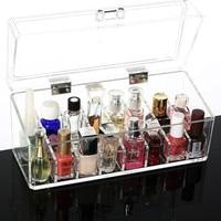 24 grids Acrylic Makeup Organizer Cosmetic Storage Box for Lip Gloss Lipstick Nail Polish Make Up Holder 23*9*10cm