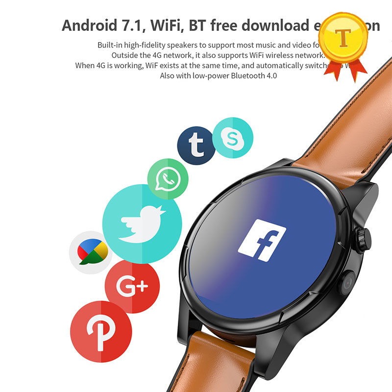 a97666543 fashion heart rate 4G wifi smart watch Android 7.1 3GB/32GB wristwatch  Phone watch Sim