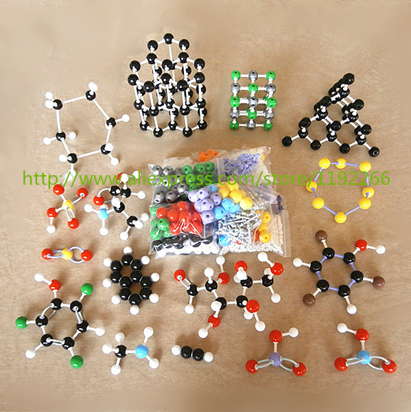 wholesale 947pc molecular model LZ-23947 Large Set Inorganic/Organic molecule Models kit For University Chemistry Teacher xhjy xmm 006 chemistry organic molecule model for teaching multicolored