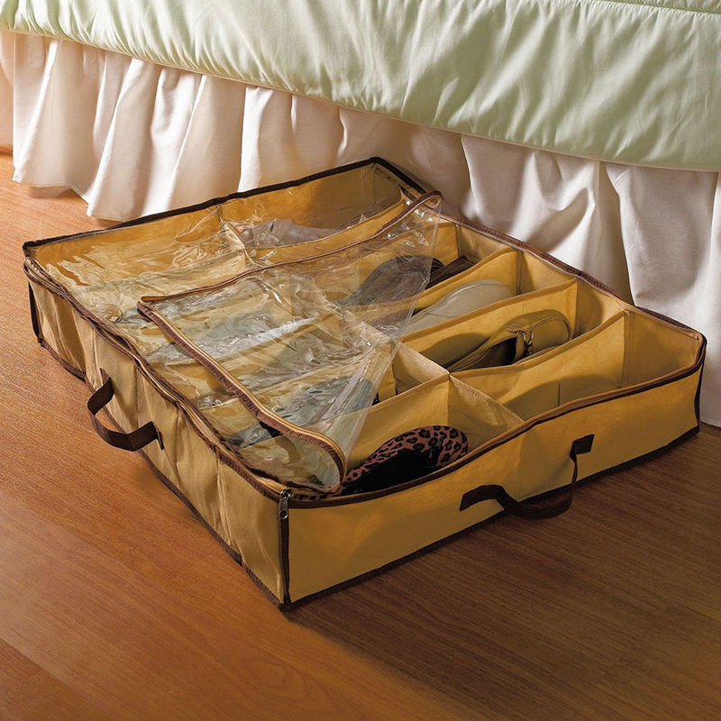Shoes Organizer Holder Intake Under Bed Closet Storage Fabric Bag Box NEW-in Storage Bags from Home u0026 Garden on Aliexpress.com | Alibaba Group & Shoes Organizer Holder Intake Under Bed Closet Storage Fabric Bag ...