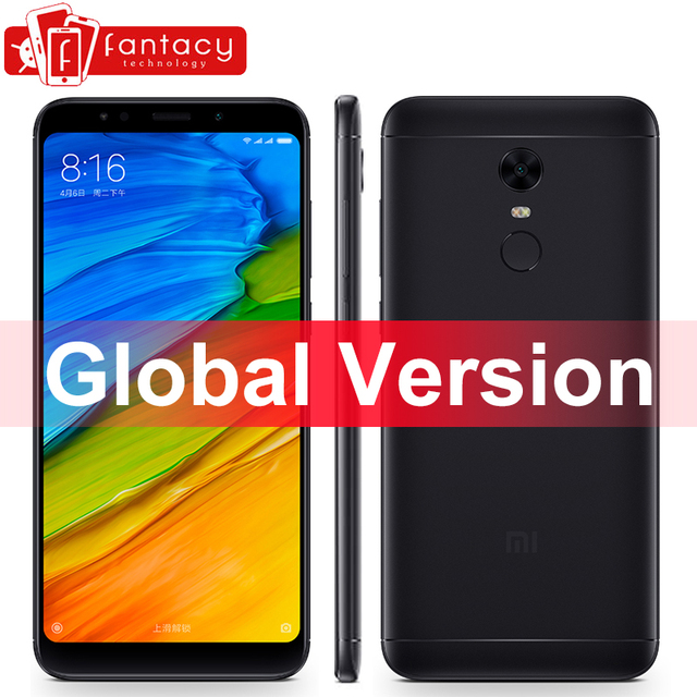 Global Version Xiaomi Redmi 5 Plus 3GB 32GB 18:9 Display Smartphone Snapdragon 625 Octa Core 4000mAh MIUI 9 B4 B20 CE FCC Metal
