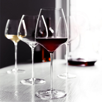 Europe high quality Crystal Burgundy red wine goblet champagne glasses Large cocktail glass Wedding Party Glass Cup drinkware