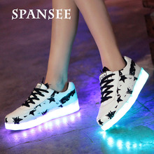 Fashion LED Sneakers Glowing Sneakers with Light Up Sole Luminous Children Kids Boys Infantil Shoes Basket Femme Trainers 10