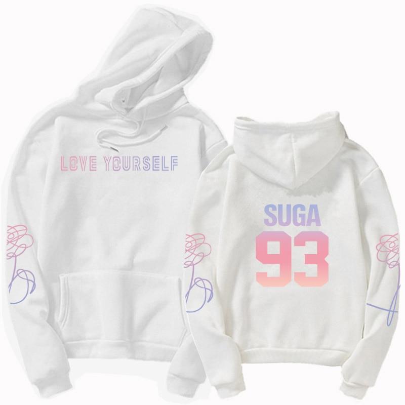 jungkook Unisex hoody kpop suga93 hoodies love KPOP weatshirt love yourself KPOP hoody sweatshirt  harajuku hoodies 23