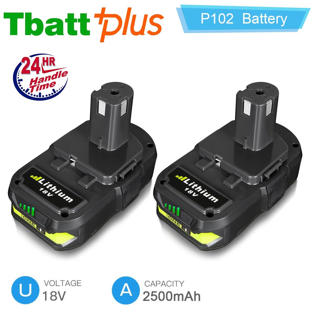 For 18V Lithium Battery Ryobi ONE Plus P102 P103 P104 P108 P105 P107 2 5Ah