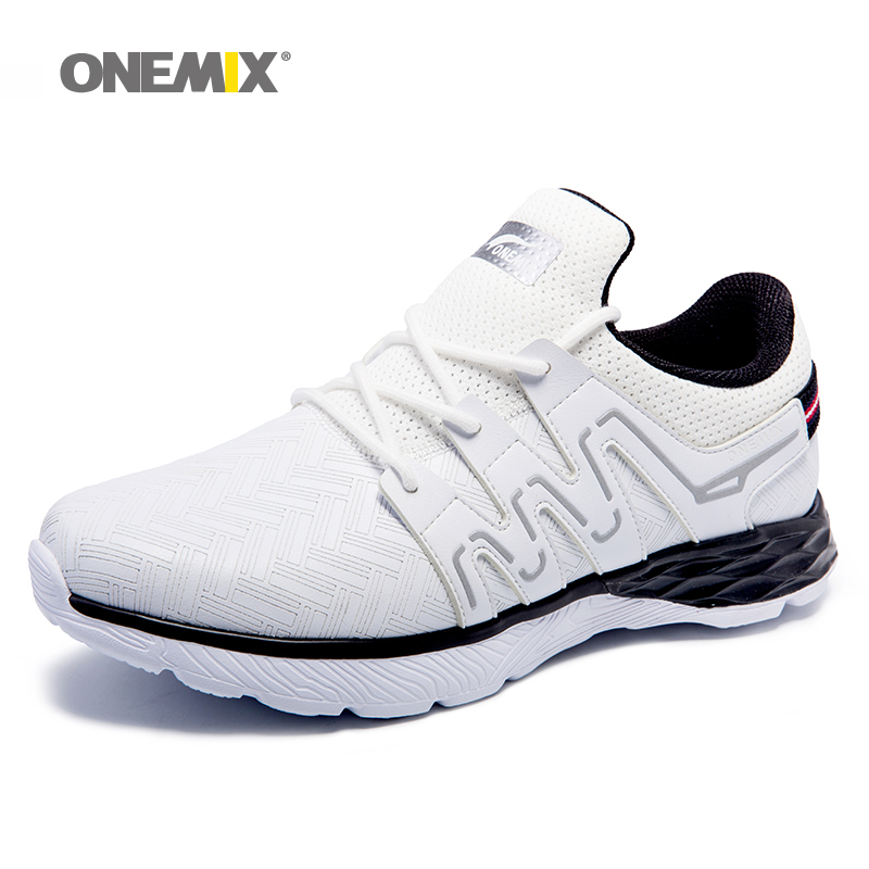 2018 New onemix Men Running Shoes Nice Run Athletic Trainers  Zapatillas Sports  Lightweight Shoe Cushion Outdoor Walking Sneake-in Running Shoes from Sports & Entertainment    2