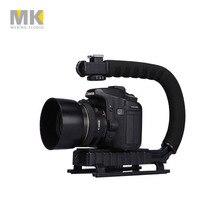 Selens DV C shaped Camera Handheld Holder flash bracket U-hand Motion Stabilizer stable frame Grip for video 5d2 DSLR SLR