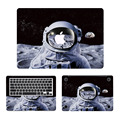 Astronaut on Moon 3 in 1 Laptop Decal Sticker Set for MacBook Air/Pro/Retina 11 12 13 15 Dell HP Full Body Protective Cover Skin