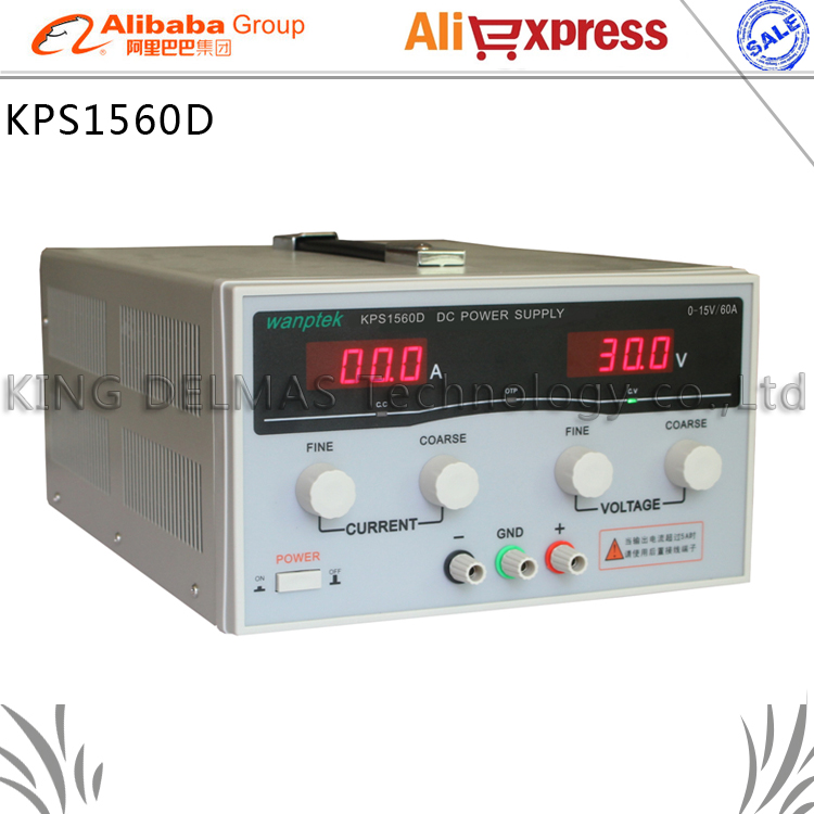 KPS1560D High precision High Power Adjustable LED Display Switching DC power supply 220V 0-15V/0-60A For Laboratory and teaching kuaiqu high precision adjustable digital dc power supply 60v 5a for for mobile phone repair laboratory equipment maintenance