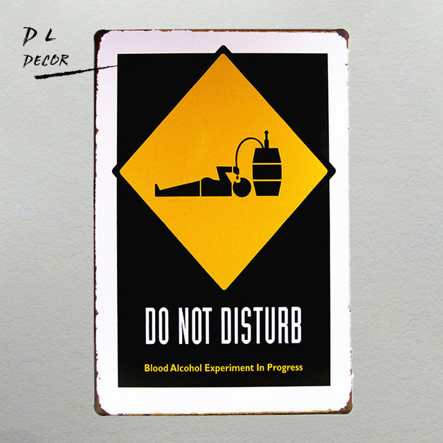 DL DO NOT DISTURB Vintage TIN Signs iron Poster art Wall Decor ...