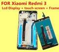 Высокое Качество ДЛЯ Xiaomi Redmi 3 ЖК-Дисплей + Сенсорный Экран + FrameReplacement Аксессуары для Hongmi3 Redmi3 Дать силиконовый чехол