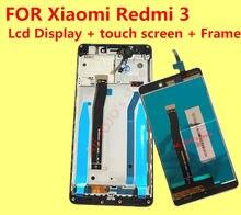 FOR Xiaomi Redmi 3 LCD Display +Touch Screen+Frame 100% Original Replacement Accessories for Hongmi3 Redmi3 1280X720 HD 5.0inch