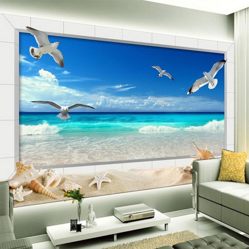 Papel De Parede 3D Wallpaper For Wall Mural HD Beautiful Seaside Landscape Nature Photo Wallpaper Living Room Bedroom Home Decor salahuddin khan relationship among qualifications experience gender