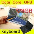 10 polegada tablet 8 octa core 1280X800 IPS 4 GB ram ROM 128 GB + teclado 3G phone call Dual SIM card Tablet PC Android GPS 5.1