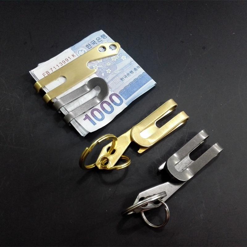Weitere Sportarten Titanium Alloy Creative Mini Öffner Edelstahl Stahl Multi-funktions Keychain Bergsteigen & Klettern