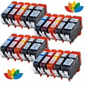 20 Ink Cartridges (Set) for Canon CLI 551 PGI 550 Pixma iP7250 iX6850 MG5550 MG5650 MG6450 MG6650 MX725 MX925