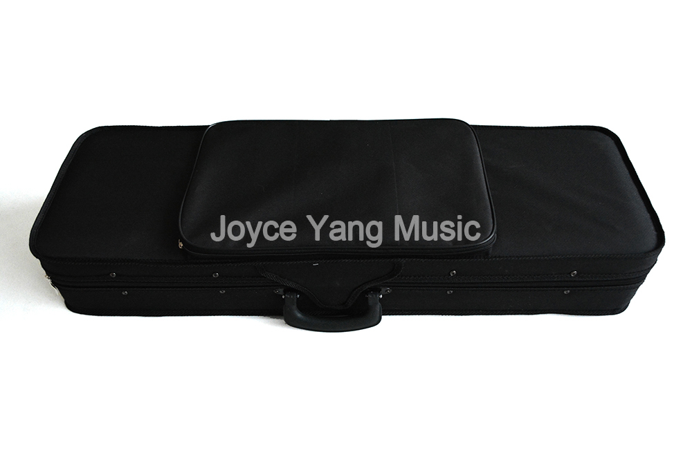 Black Rectangle Oxford Fabric Violin Case with Cushion Lining For 1 8 1 4 1 2