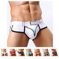 Calzoncillos Sexy Men Breathable Gay Underwear Zipper Print Cotton Briefs U Convex Pouch Underpants Mens Briefs Size S M L