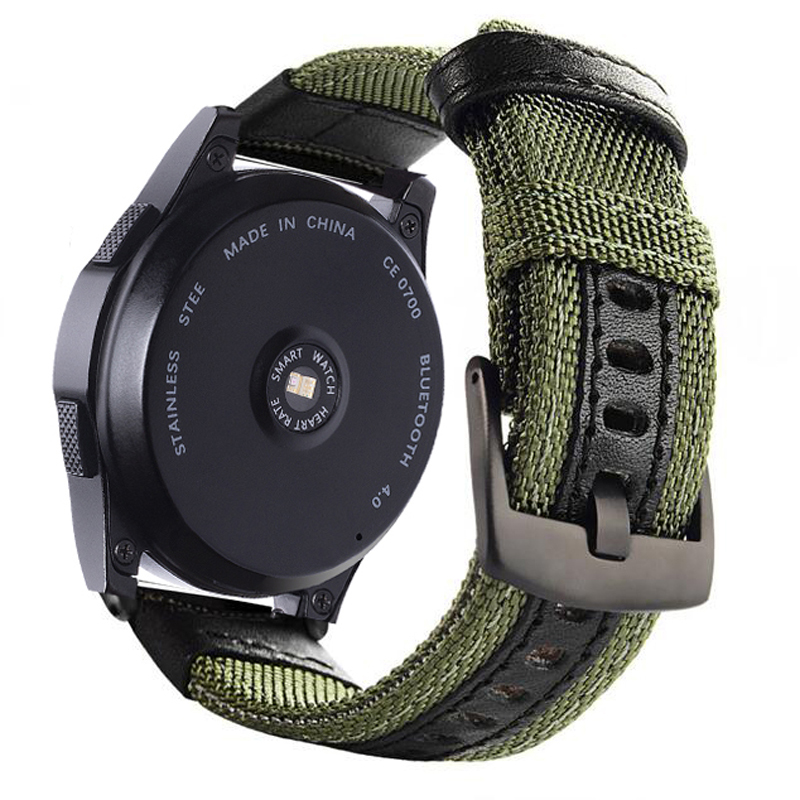 22 20mm Strap For Samsung Gear Sport S2 S3 Classic Frontier Galaxy Watch 42 46mm Band Nylon Bracelet Belt For Huami Amazfit Bip