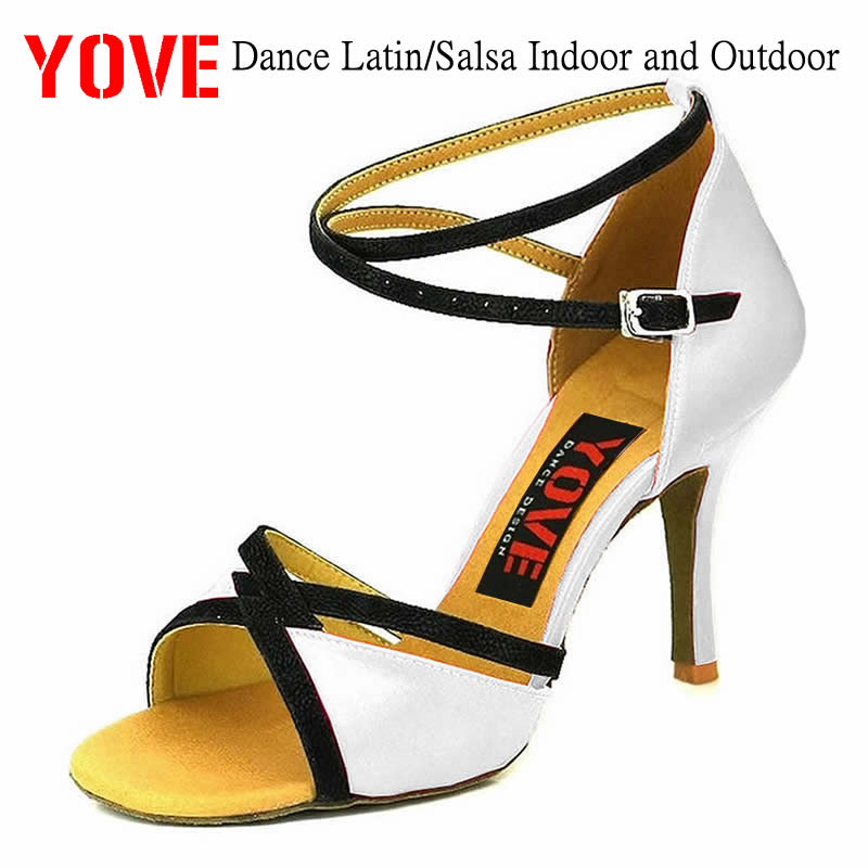 YOVE Style W123-14 Dance Shoes Bachata/Salsa Indoor And Outdoor Women's Dance Shoes