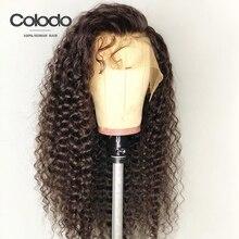 Колодо вьющиеся человеческие волосы парик с детскими волосами предварительно выщипанные бразильские кружевные передние парики для женщин натуральный цвет длинные волосы remy розовый парик