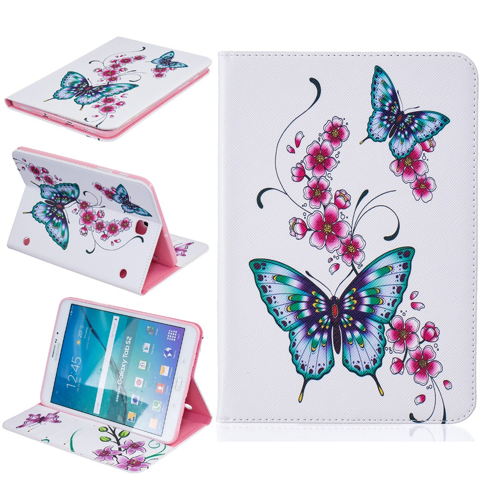 for fundas Samsung Galaxy Tab S2 8.0 Cover Stand Case for coque Samsung Galaxy Tab S2 8.0 T710 T715 SM-T715 Case + Card Holder