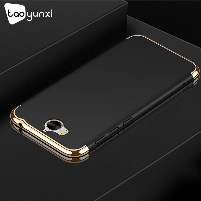 TAOYUNXI Plating Plastic Case For Huawei Y5 2017 Case Back Cover Coque Funda for Y5 III Y5 3 Y6 2017 MYA-L22 Anti-Knock Etui