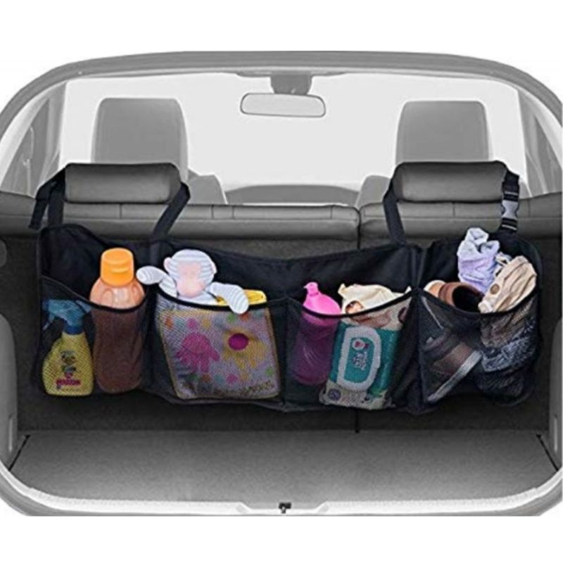 Car Seat Back Hang Storage Bags With Four Big Pockets Multi-functional Hanging Holders Organizer Durable Enough Storing Capacity
