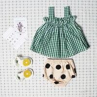 الصيف الطفل أكمام الأعلى + السراويل الخبز الإناث babysuit الرضع منقوشة أحد كبار ملخصات 2 قطع مجموعة أطفال ملابس الطفل بدلة طفل سترة
