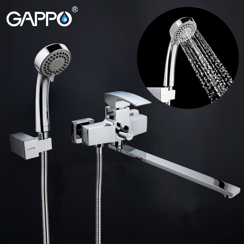 GAPPO Baignoire robinet en laiton de bain mélangeur pour baignoire précipitations ensemble de douche baignoire robinets mur monté cascade robinets de bain