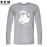 Men Fashion Pepe Le Pew Guns N Roses Long Sleeve T Shirt 2016 Plus Size Hip