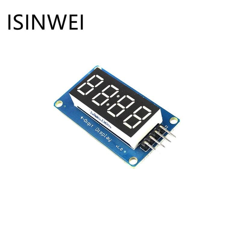 Tm1637 светодиодный Дисплей модуль 7-сегментный 4 биты 0.36 дюйма часы красный анод цифровой трубки четыре последовательных драйвер платы pack
