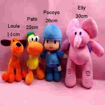 4pcs/lot  POCOYO Cartoon Stuffed Animals & Plush Toys Hobbies Loula & Elly & Pato & POCOYO plush toy