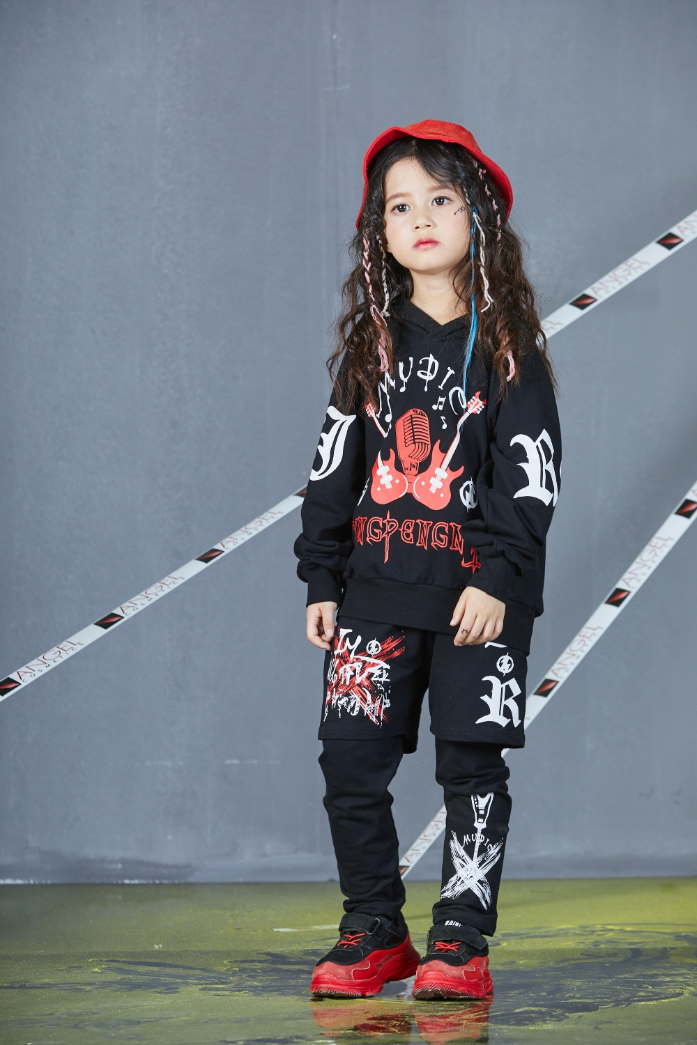 Autumn Spring Kids Street Dance Clothes Sets Fashion Hip Hop Clothing 2019 Brand High Quality Sport Suit for Teenage Boys Girl (30)