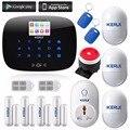 Kerui anti-theft motion detector de alarme gsm segurança com inteligente tomada adaptador de energia inteligente