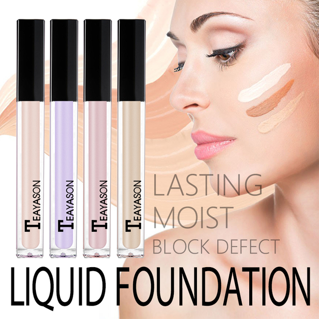 Teayason Face Makeup Base Concealer Eye Contour Corrector Cream Maquiagem Liquid Corrective Bronzer Primer Makeup Foundation 2
